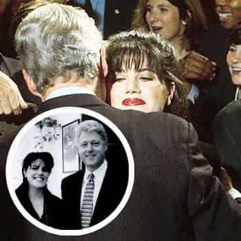 N 335227 001 10/23/96 Washington D.C. Monica Lewinsky Embraces President Bill Clinton At A Democratic Fundraiser ------------------- (Photo By Dirck Halstead/Getty Images)